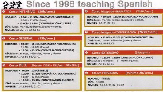 Cursos de español en Sevilla desde 1996